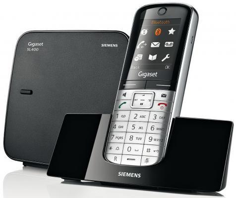 Радиотелефон DECT Gigaset SL400 черный/серебристый
