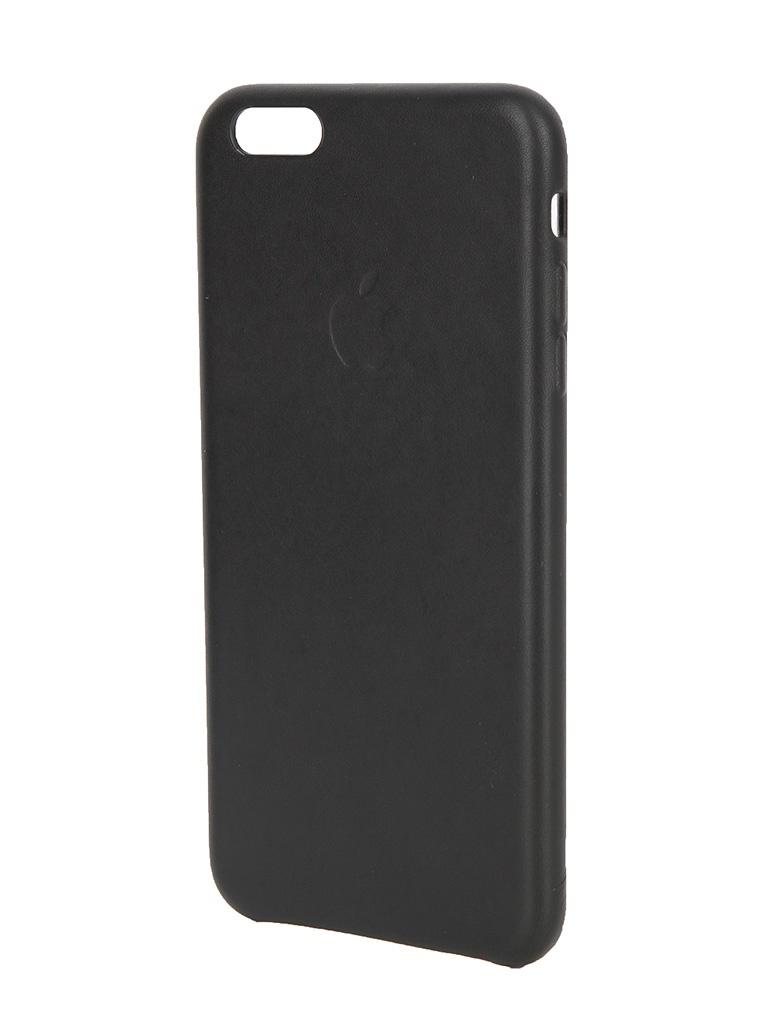 Аксессуар Чехол APPLE iPhone 6S Plus Leather Case Black MKXF2ZM/A